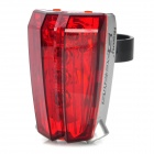 5-Mode 7-LED Red Light Bike Safety Tail Lamp w/ 2-Mode Parallel Lasers - Silver + Red (2 x AAA)