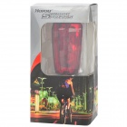 5-modo 7-LED Red Light Bike Safety Tail Lamp com 2-modo paralelo laser-Prata + Vermelho (2 x AAA)