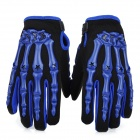 PRO-BIKER CE-04 Skeleton Motorcycle Racing Gloves - Blue + Black (Size L / Pair)