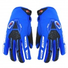 PRO-BIKER CE-03 Warm Full-Finger Motorcycle Riding Glove - Azul + Negro (Talla M / Par)