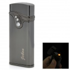 ZB-523 Electric Induction Stainless Steel Windproof Butane Jet Lighter - Dark Grey (1 x 27A)