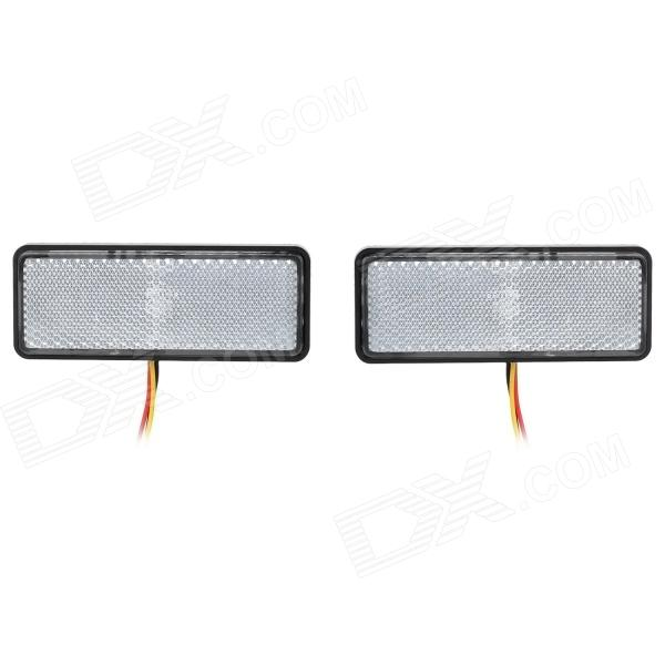 Waterproof 1.5W 66lm LED Colorful Reflective Plate Lamp (2 PCS / 12V)
