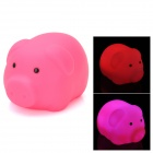 Cute Pig Style Color Changing LED Bath Toy for Kids - Deep Pink (3 x LR616)