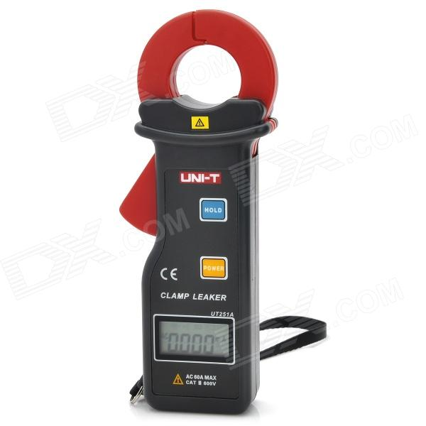 "UNI-T UT251A 1.3"" LCD Digital Clamp Leakage Ammeter - Coal Grey + Red (1 x 6F22/9V)"