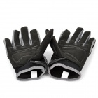 PRO-BIKER CE-03 Full-Fingers Motorcycle Racing Gloves - Black + White + Grey (Pair / Size M)