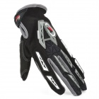 PRO-BIKER CE-03 Full-Fingers Motorcycle Racing Gloves - Black + White + Grey (Pair / Size XL)