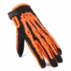 Pro MC CE-04 Full-fingrar motorcykel Racing handskar - Orange + svart (par / storlek XL)