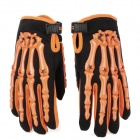 PRO-BIKER CE-04 Full-Fingers Motorcycle Racing Gloves - Orange + Black (Pair / Size M)