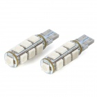 SENCART T10 2.6W 182lm 13-SMD 5050 LED Blue Light Car Decoration / Brake / Backup Lamp (2 PCS / 12V)
