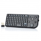 Wellson UKB-400-RF 2.4GHz Mini Wireless 70-Key QWERTY Keyboard w/ Trackball - Black