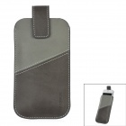 BASWUS PU Leather Case for Iphone 5 - Black + Grey