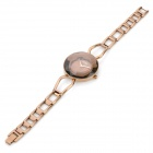 KIMIO K8462 Fashion Woman's Zinc Alloy Band Quartz Analog Waterproof Bracelet Wrist Watch - Brown