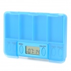 "Portable 1.0 ""LCD Display Alarm PILLS Reminder Drug Zeit Box - Blue (1 x AG3)"
