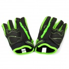 PRO-BIKER CE-04 Full-Fingers Motorcycle Racing Gloves - Green + Black (Pair / Size L)