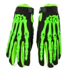 PRO-BIKER CE-04 Full-Fingers Motorcycle Racing Gloves - Green + Black (Pair / Size M)