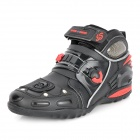PRO-BIKER A9002 Wear-Resistant Motorcycling Racing Boosts - Black + Red (Size-42)