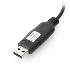 6-in-1 USB Programming Cable for Kenwood / HYT / Mag A8 / GP88S / ICOM / YAES - Black