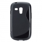 """S"" Style Protective TPU Back Case for Samsung Galaxy S3 Mini i8190 - Black"