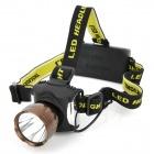 BANYOU Cree XM-L T6 380lm 5-Mode White Headlamp - Black + Brown (2 x 18650)