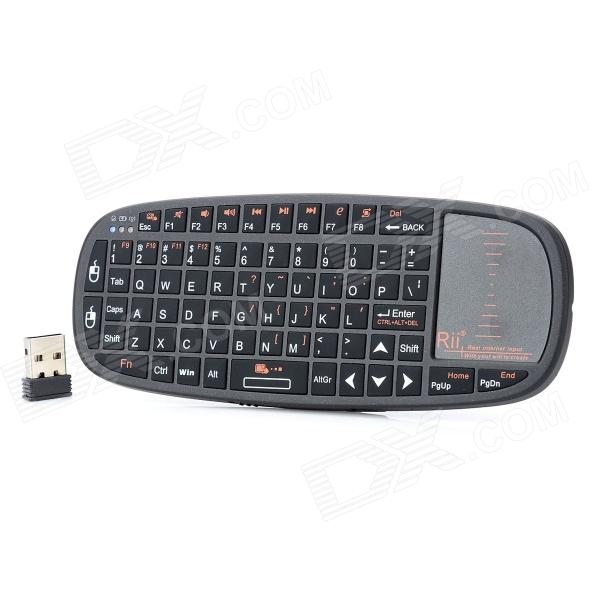 Rii i10 Mini Wireless 2.4GHz 70-Key Keyboard w/ TouchPad / Laser Pointer for PC / HTPC