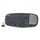 Rii i10 Mini Wireless 2.4GHz 70-Key Keyboard w/ TouchPad / Laser Pointer for iPad / PC / HTPC