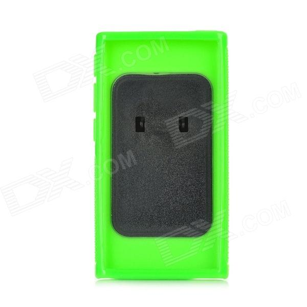 Clip-On Silicone Back Case for Ipod Nano 7 - Green
