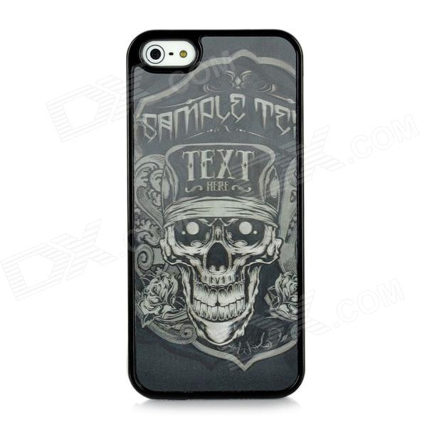 3D Skull Pattern Protective Plastic Case for Iphone 5 - Black cm001 3d skeleton pattern protective plastic back case for samsung galaxy s4