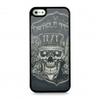 3D Skull Pattern Protective Plastic Case for Iphone 5 - Black