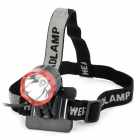UltraFire Cree XM-L T6 870lm 3-Mode White Crown Head Bike Light Headlamp - Red + Grey (4 x 18650)