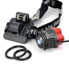 UltraFire 870lm 3-Mode White Crown Head Bike Light Headlamp - Red + Grey (4 x 18650)