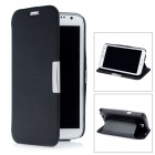 Protective PU Leather Case w/ Cover for Samsung Galaxy Note 2 N7100 - Black