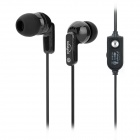 Koniycoi KE-112MV In-Ear Bass Earphones w/ Mic + Volume Control - Black (3.5mm-Plug / 180cm-Cable)