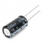 E-CAP Aluminum 16V 22~2200uF Electrolytic Capacitors Pack for DIY Project - White (9 x 10 PCS)