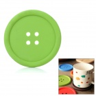 Thermal Resistance Silicone Button Style Dual-Coaster - Green
