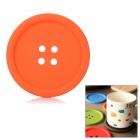 Thermal Resistance Silicone Button Style Dual-Coaster - Orange
