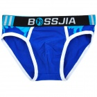 BOSSJIA Casual Man's Cotton + Spandex Underwear / Pants - Deep Blue + More (Size L)