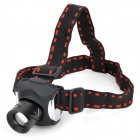 BANYOU Rechargeable 380lm 3-Mode White Zooming Headlamp - Black