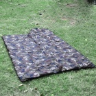 Envelope Style Camping Warm Rectangle Sleeping Bag - Camouflage Green