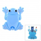 120316 Cute Frog ABS Combination Toothbrush Holder w/ Suction Cup - Blue