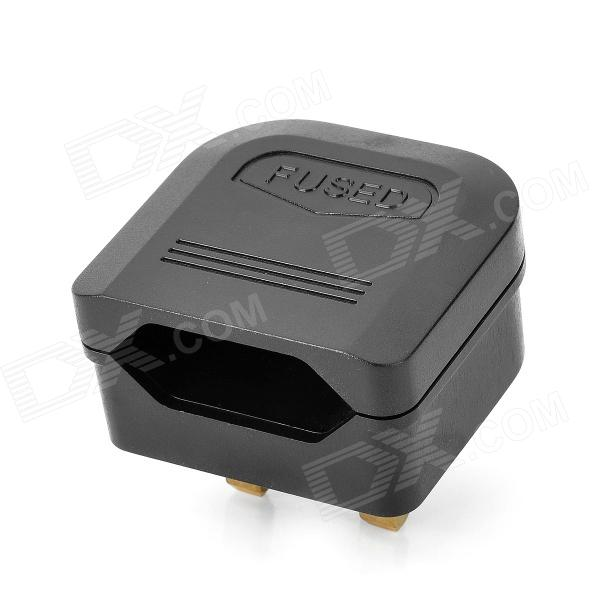 BS-5733 Universal Travel EU Plug to UK Plug Power Adapter - Black 2016 south africa travel adapter type m large 15 amp bs 546 2 port multi outlet black color 1 to 2 eu au usa plug 15a