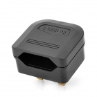 BS-5733 Universal Travel EU Plug to UK Plug Power Adapter - Black