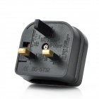 Universal Travel EU Plug till UK Plug Power Adapter - Svart