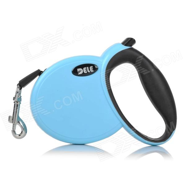 Retractable Pet Dog Leash w/ Control Button - Blue (3M) super soft frisbee ufo style silicone indoor outdoor toy for pet dog sky blue