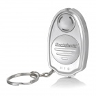 Mini Ultrasonic Mosquito Repellent Repeller Keychain - Silver (1 x CR2032)