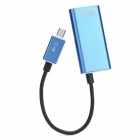 Micro USB to HDMI MHL HDTV Adapter Cable for Samsung i9300 - Blue (15cm)