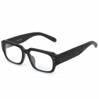 Rollende Caster Wooden Stil Rahmen Resin Objektiv Spectacles Glasses - Black