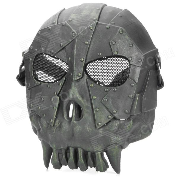 Chief SW2104 Skull Style Full-face Mask for War Game / CS - Black tactical skull face mask military field us active duty m50 gas mask cs field skull mask for hunting paintball