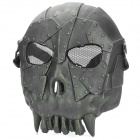 Chief SW2104 Skull Style Full-face Mask for War Game / CS - Black