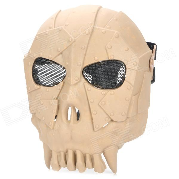 Chief SW2106 Skull Style Full-face Mask for War Game / CS - Earthy tactical skull face mask military field us active duty m50 gas mask cs field skull mask for hunting paintball