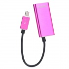 Micro USB to HDMI MHL HDTV Adapter Cable for Samsung i9300 - Deep Pink (15cm)